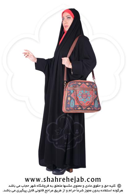 چادر دانشجویی مچ دار کرپ کن کن