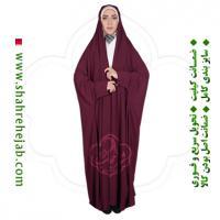 چادر دانشجویی مچدار شهر حجاب کد 01 رنگ زرشکی