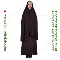 چادر کمری قجری شهر حجاب کد 01 رنگ قهوه ای