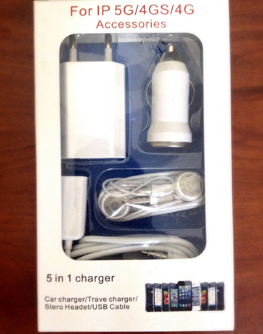 شارژر همراه همه کاره مخصوص آیفون 5in 1
