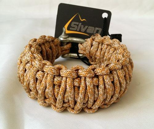 دستبند بقا Sivan با قفل فلزی پرقدرت مدل COBRA Double
