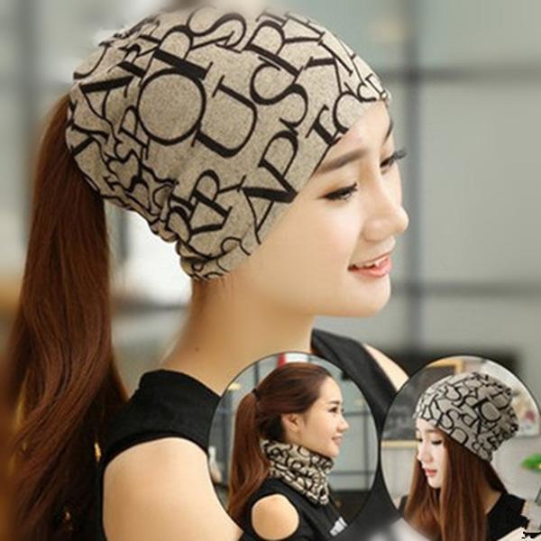 دستمال سر و کلاه پاییزه