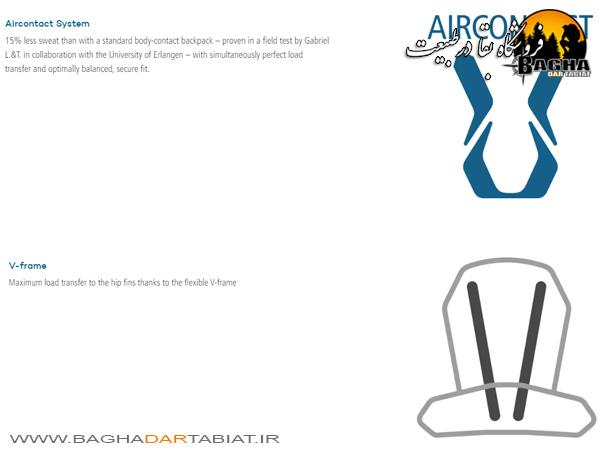کوله پشتی دیوتر مدل AIRCONTACT PRO 70 +15