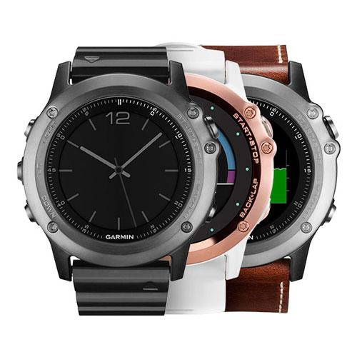 ساعت ورزشی GARMIN مدل fenix 3 Sapphire Rose Gold with white band