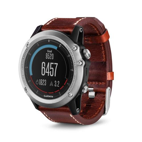 ساعت ورزشی GARMIN مدل fenix 3 Sapphier Silver with Leather band