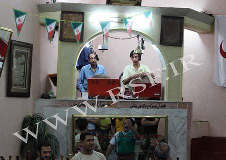 1004 - اجرای ورزش باستانی زورخانه هلال احمر مشهد مرشد استاد فرامرز نجفی