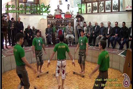 1035- ورزش تیم ملی کشور در زورخانه امیرکبیر مشهد مرشد مهدی تمولی