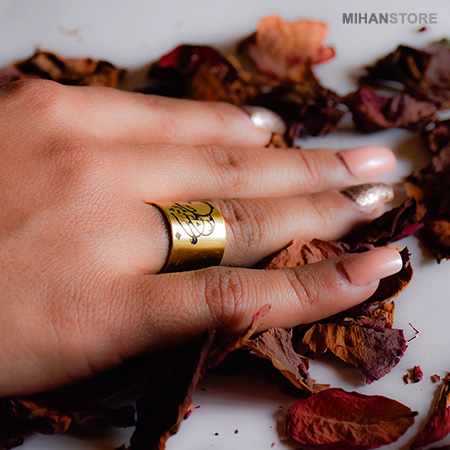 انگشتر طرح عشق