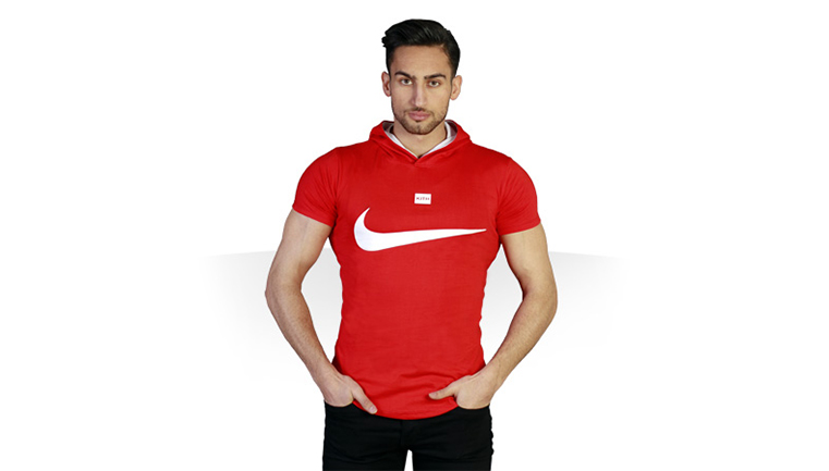 تی شرت کلاه دار Nike طرح Red