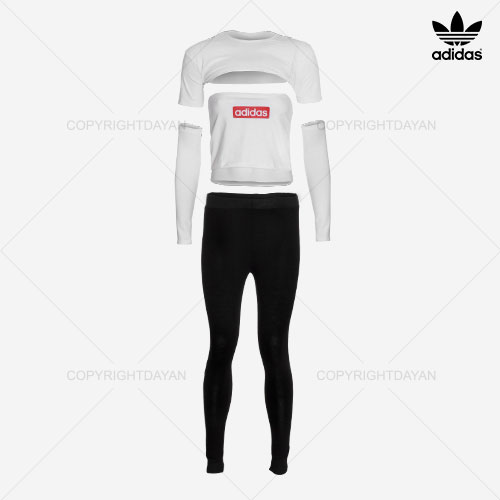 ست نیم تنه و شلوار زنانه Adidas مدل Z7095