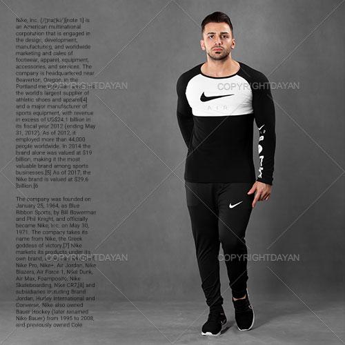 ست تیشرت و شلوار مردانه Nike مدل S1085