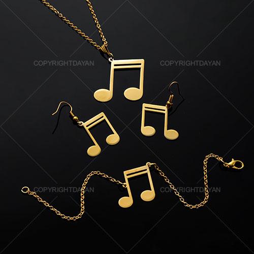 ست گردنبند دستبند و گوشواره موسیقی