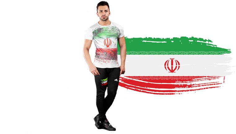 ست تیشرت و شلوار مردانه Adidas طرح Iran