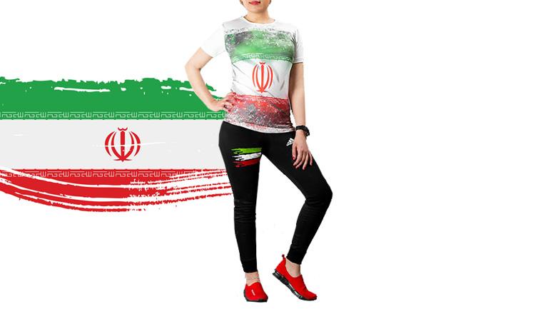 ست تیشرت و شلوار زنانه Adidas طرح Iran