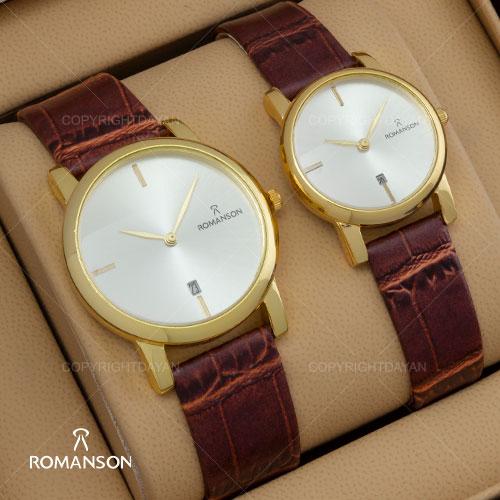 ست ساعت مردانه و زنانه Romanson مدل W9143(قهوه ای)