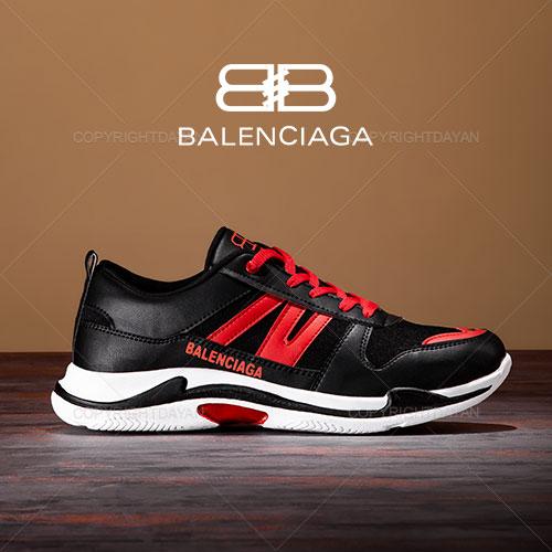 کفش مردانه Balenciaga مدل K1052 (مشکی قرمز)