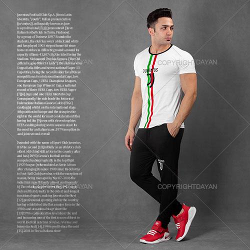 ست تیشرت و شلوار مردانه Juventus مدل Hemo
