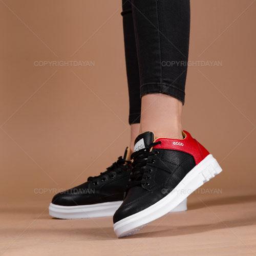 کفش زنانه Ecco مدل V4010 (مشکی قرمز)