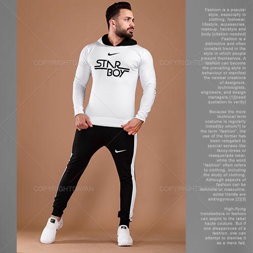 ست سویشرت شلوار مردانه Nike مدل A7040(سفید)