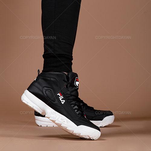 کفش ساقدار مردانه Fila مدل F1309 (مشکی سفید)