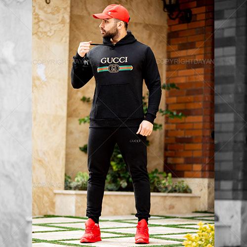 ست سویشرت و شلوار مردانه Gucci مدل M8802