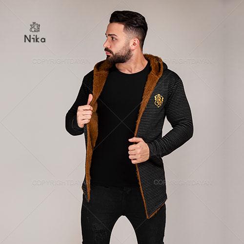 شنل خزدار مردانه Nika مدل T4359