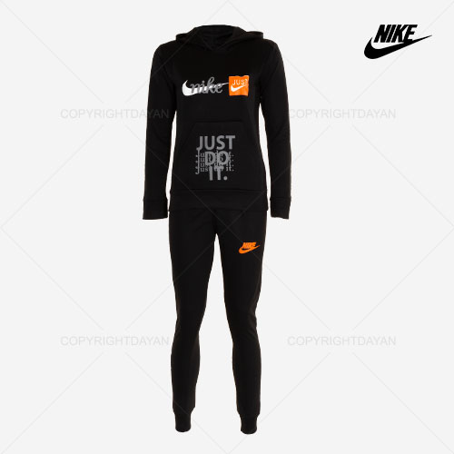 ست سویشرت و شلوار زنانه Nike مدل B8699 (مشکی)