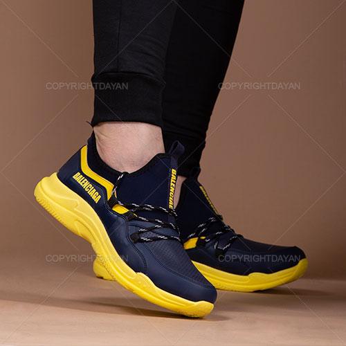 کفش مردانه Balenciaga مدل K5085 (سرمه ای زرد)