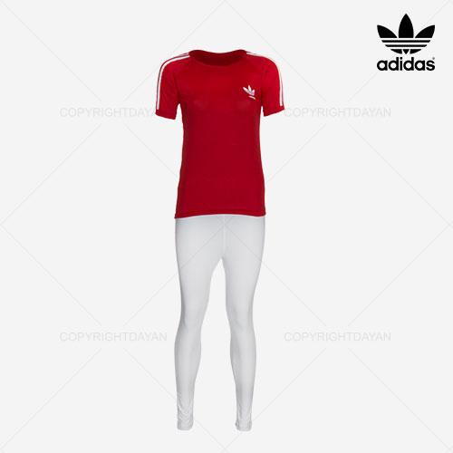 ست تیشرت و شلوار زنانه Adidas مدل Z8095 (قرمز)