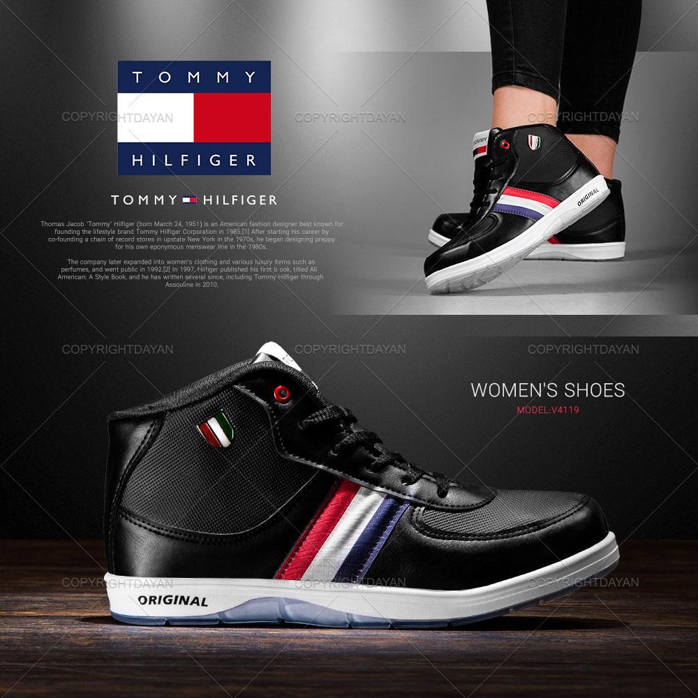 کفش ساقدار زنانه Tommy مدل V4119 (مشکی)