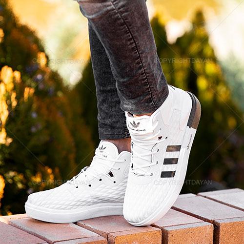 کفش ساقدار مردانه Adidas مدل K1155 (سفید)
