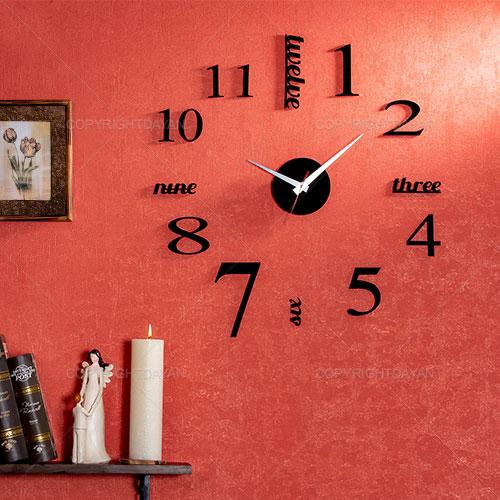 ساعت دیواری روکش مخمل نامبر