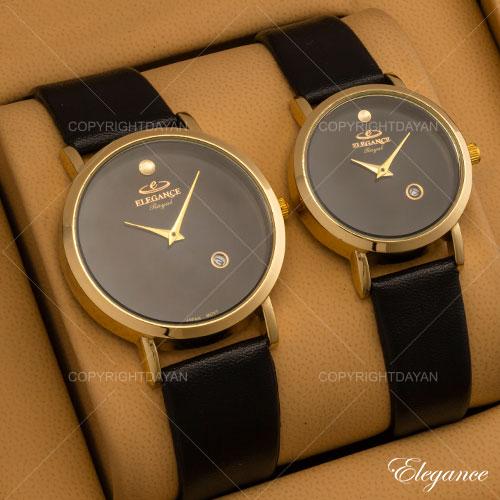 ست ساعت مردانه زنانه Elegance مدل W9740 (مشکی)