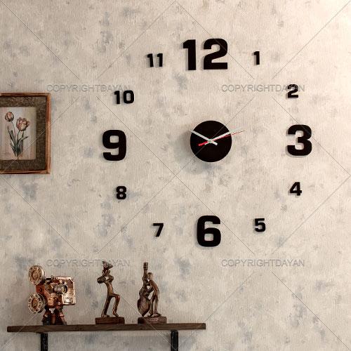 ساعت دیواری روکش مخمل \\\