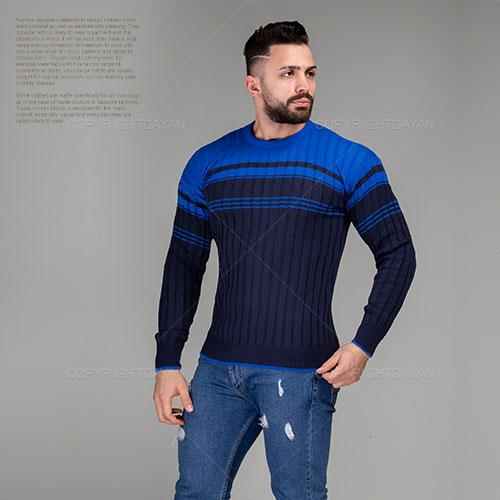 بافت مردانه Lima مدل E5042 (آبی)