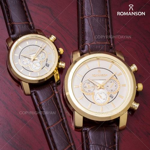 ست ساعت مردانه و زنانه Romanson مدل Steen(قهوه ای)