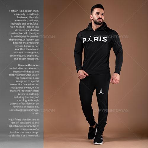 ست سویشرت و شلوار مردانه Paris مدل S2441