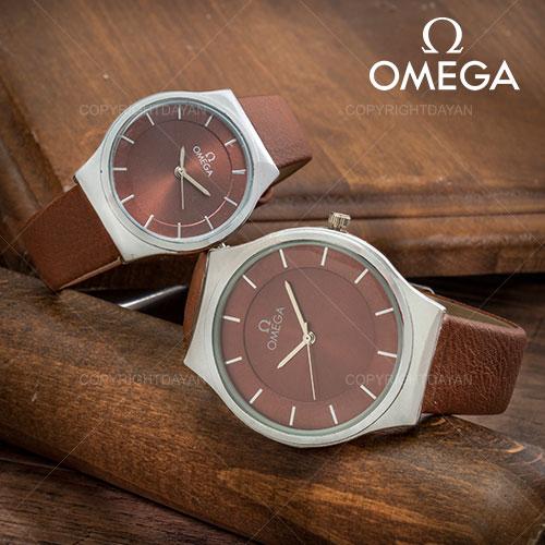 ست ساعت مردانه و زنانه Omega مدل W1397(قهوه ای)