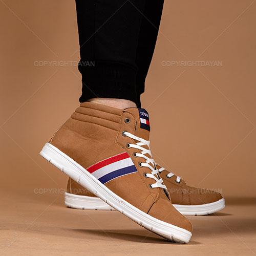 کفش ساقدار مردانه Tommy مدل F1201 (کرمی)