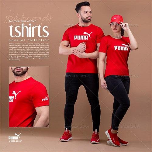 ست تیشرت مردانه و زنانه Puma مدل C8697
