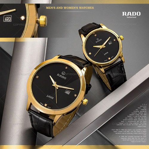 ست ساعت مچی مردانه و زنانه Rado مدل W8835