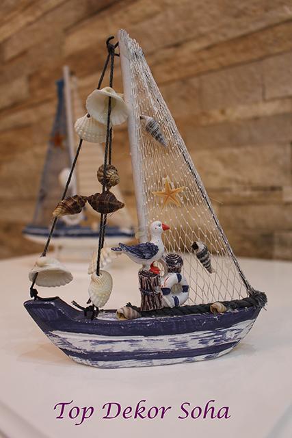 مجسمه قایق طرح صدف