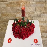 شمع و گل تزیینی