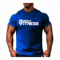 تیشرت Muscle And Fitness آبی XXXL
