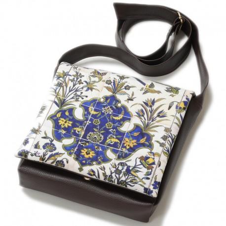 کیف چرمی خورجینی پرستو
