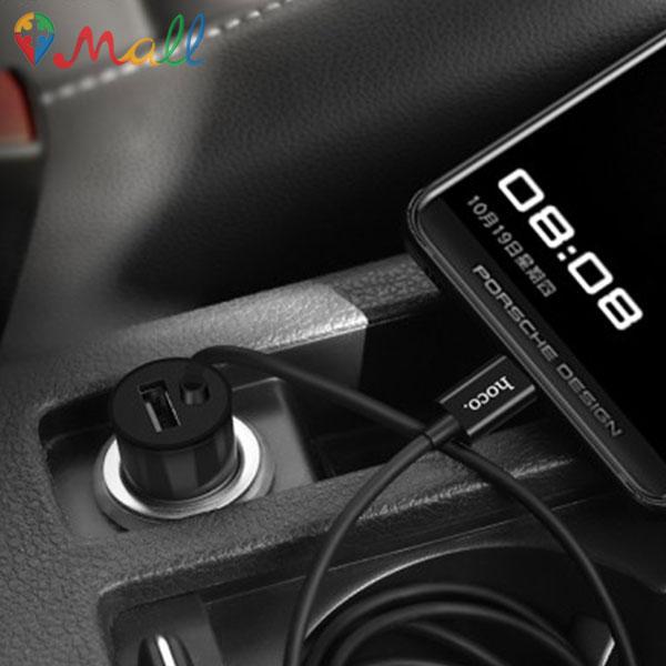 شارژر فندکی تک پورت با کابل Micro هوکو HOCO Z17