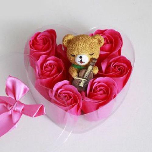 پکیج کادویی خرسی و گل های معطربا تخفیف ویژه