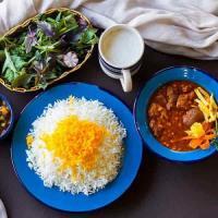خورشت قیمه با برنج