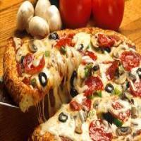 پیتزا قارچ و مرغ قالب دو نفره