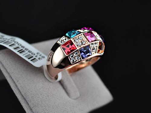 انگشتر زنانه نگین دار مدل N050 - انگشتر با نگین رنگی